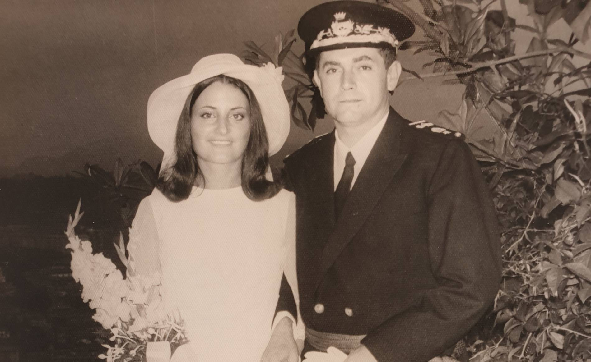 Foto de la Boda de Jesús Mª Moreno y Mª Natividad Aramburu (5 de julio de 1969).