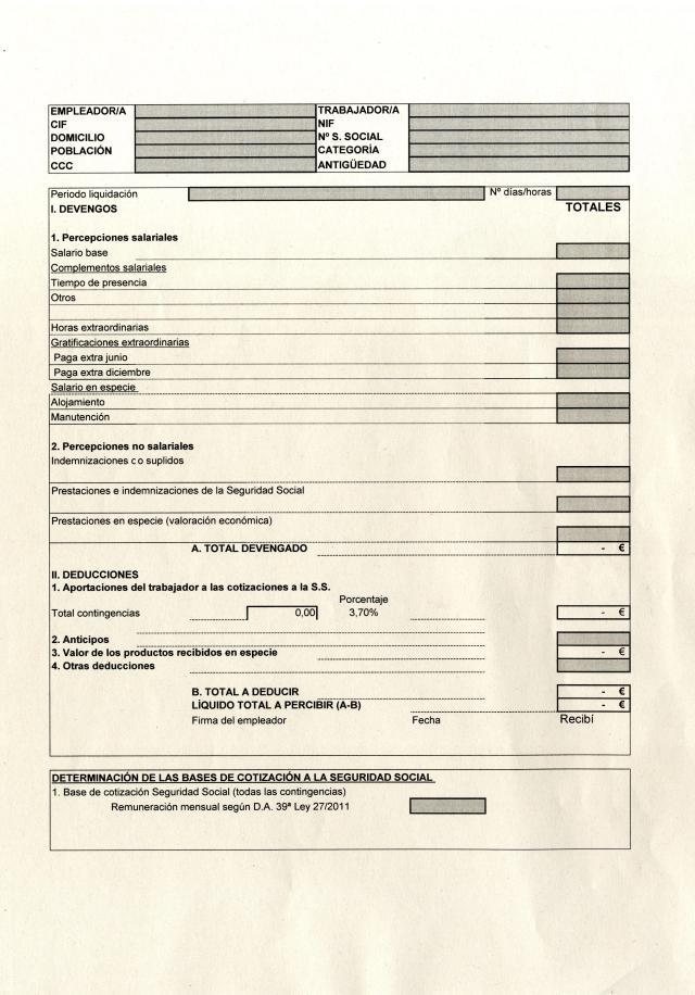 Los navarros podr an regularizar a unas empleadas for Modelo de nomina en blanco