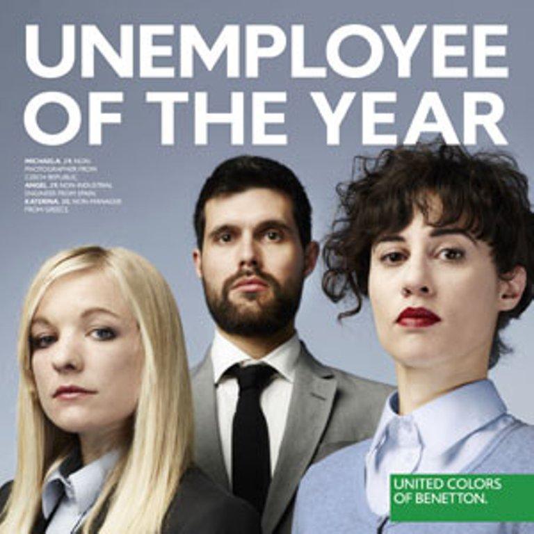 Benetton centra su campa a en el desempleo juvenil for Benetton y sus campanas publicitarias