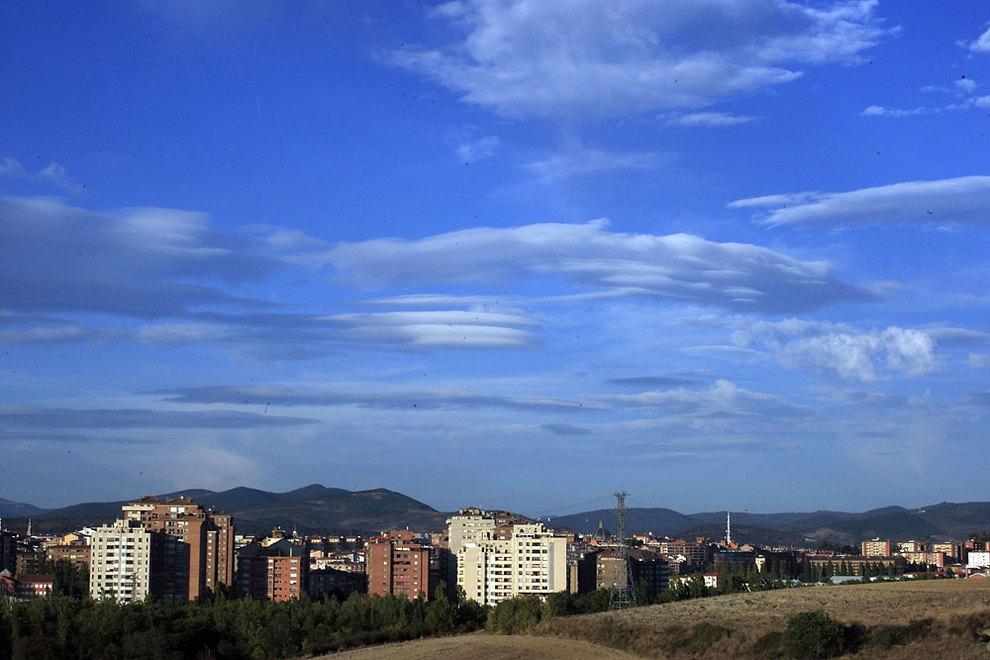 Temperaturas suaves y cielos poco nubosos en casi toda Navarra