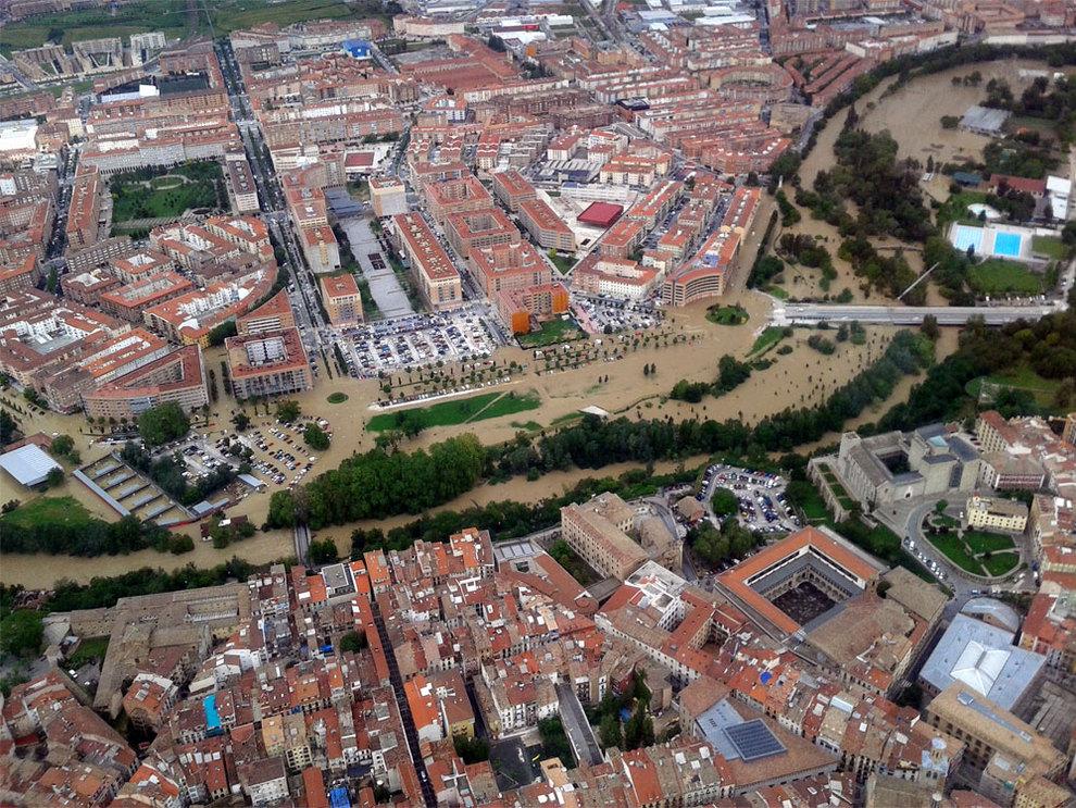 Desbordamiento del Arga en la Comarca de Pamplona (1/116) - El río Arga se ha desbordado a su paso por Pamplona, Villava, Huarte y Burlada. - Navarra -