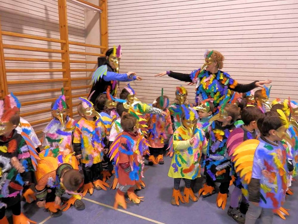 Carnaval en los colegios navarros (1/48) - Imágenes de carnaval en el Colegio Elorri de Mendillorri (Pamplona) - Navarra -