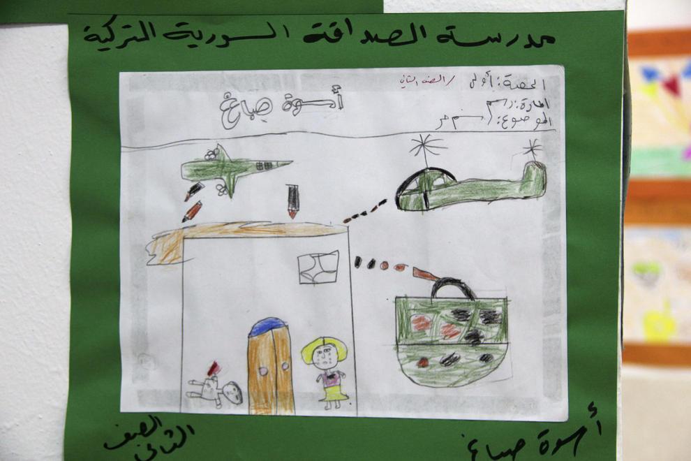 El horror de la guerra siria contado en los dibujos de los niños.. EFE