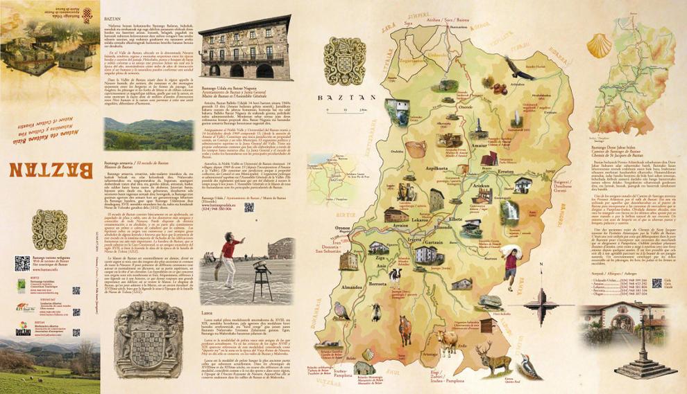 Baztan Elabora Un Mapa Guia Centrado En Sus Recursos Naturales Y