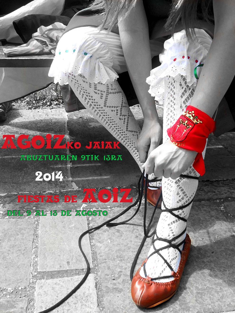 Cartel anunciador de Aoiz.. DN