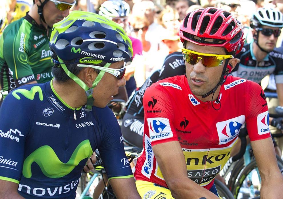 La salida de la Vuelta en Pamplona (1/67) - Ambiente en la Plaza del Castillo y aledaños en la salida de la undécima etapa de la Vuelta a España, que llega a San Miguel de Aralar. - Ciclismo -