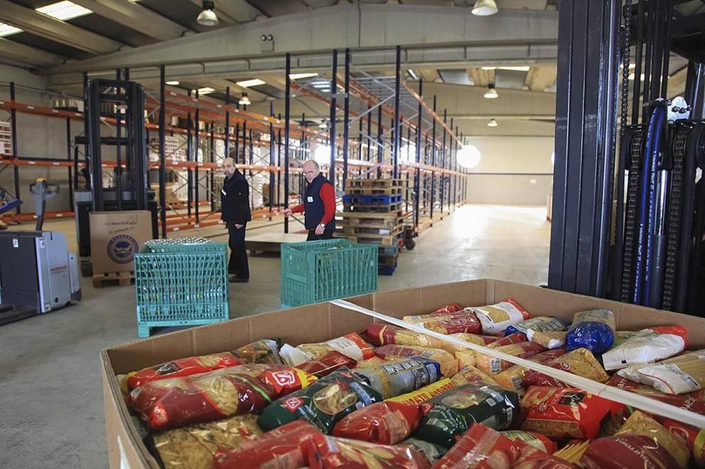 Preparativos para la gran recogida del Banco de Alimentos de Navarra