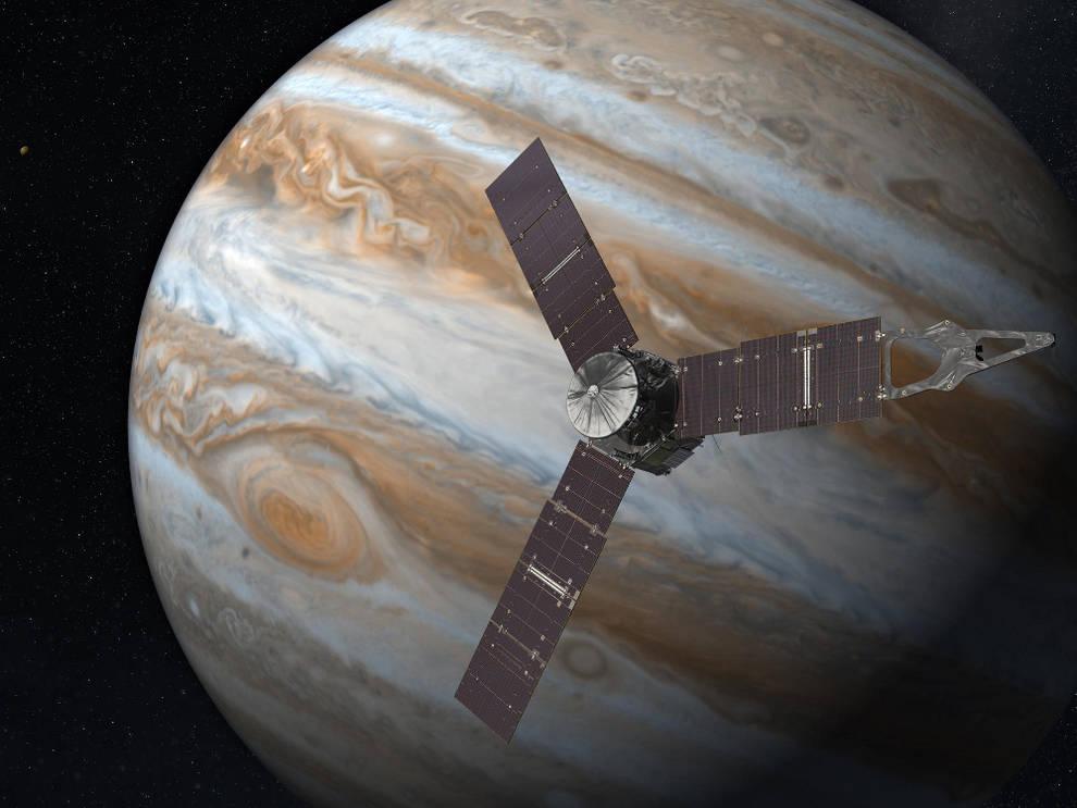 Señal de radio desde Ganímedes una de las lunas de Júpiter.