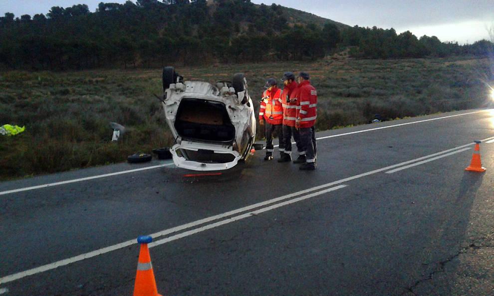 Accidente mortal en la NA-160 en Tudela (1/2) - Accidente mortal en la NA-160 en Tudela - Sucesos -