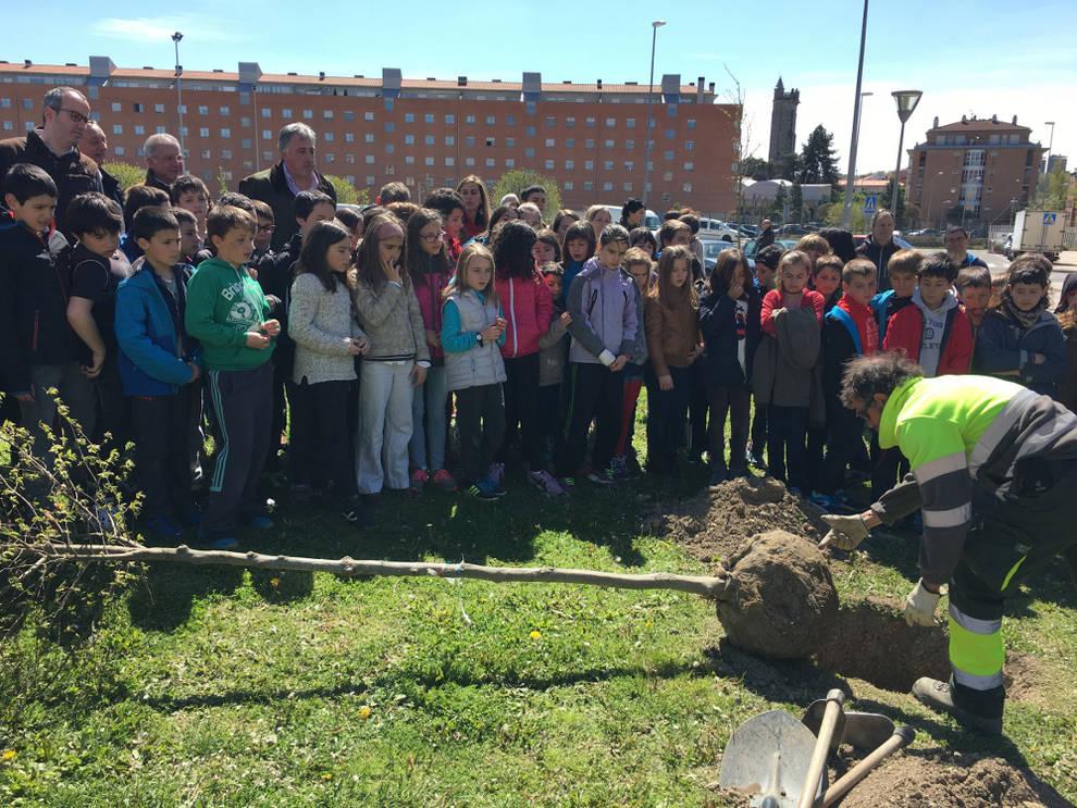 Pamplona pamplona celebra el d a del rbol con la for Los jardines esquelas