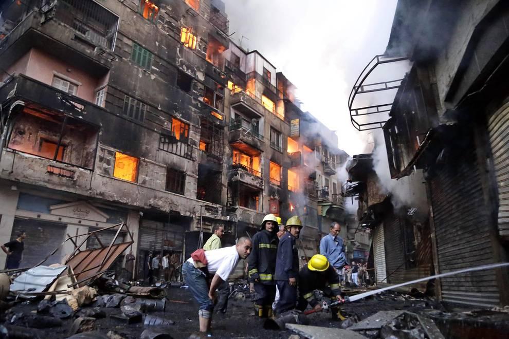 Devastador incendio en El Cairo (1/13) - Un gran incendio en el centro de El Cairo causa más de 70 heridos - Sucesos -