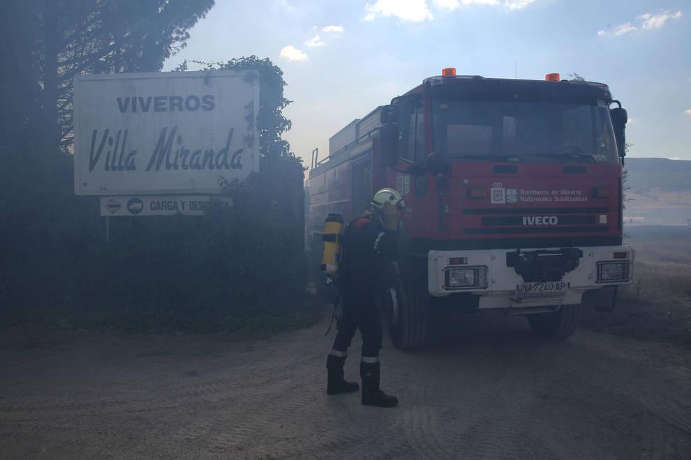 Incendio en Ororbia (1/59) - Un incendio forestal se ha declarado este miércoles en la Cendea de Iza, y afecta a varios municipios. - Sucesos -