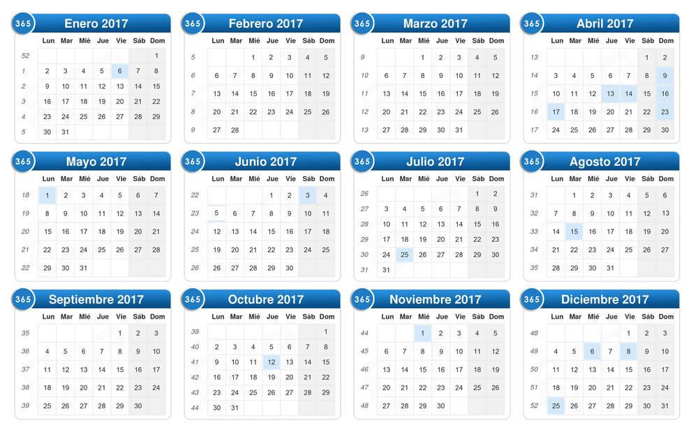Calendario Laboral Navarra.Festivos 2017 El Calendario Laboral Para 2017 Recoge 12 Dias