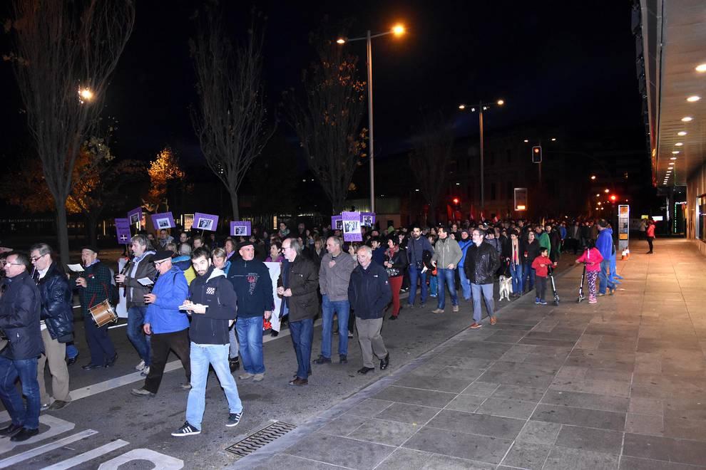 Manifestación contra el fascismo en Pamplona (1/20) - Manifestación contra el fascismo en Pamplona - Pamplona -