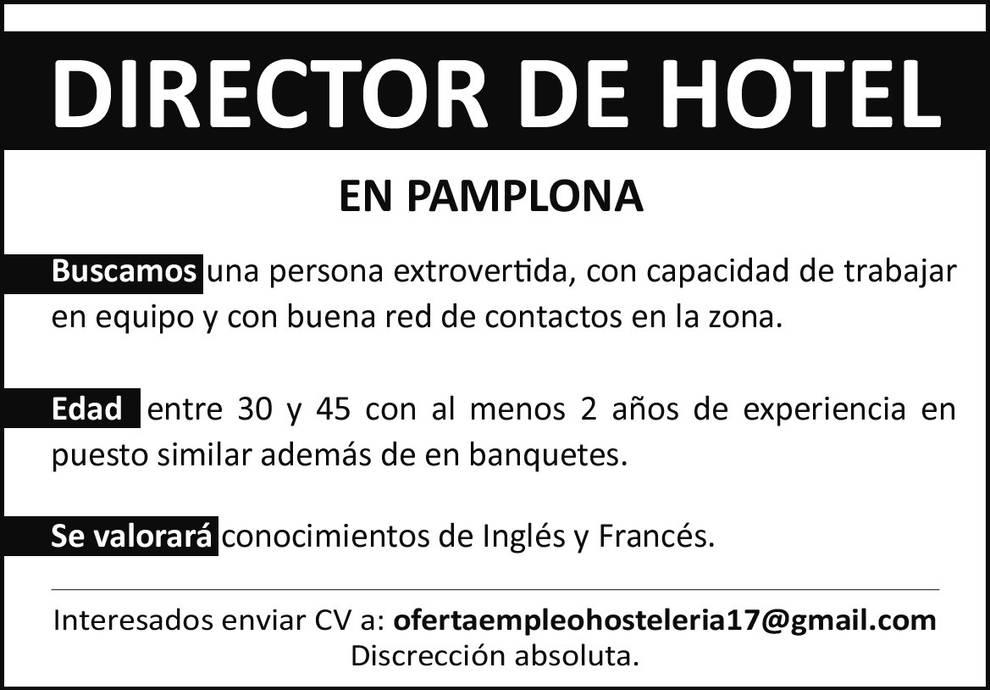 Empleo - Director de Hotel