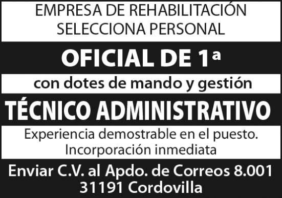Oficial y técnico administrativo