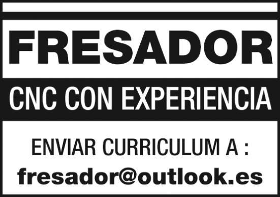 fresador ultimo ofertas de empleo Diario de Navarra