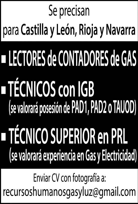 Lectores gas empleo 4 junio nuevo