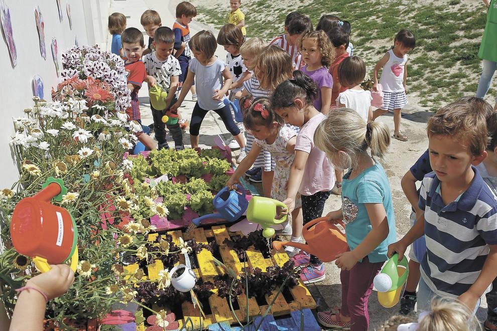 Un huerto infantil en el colegio p blico de no in for Asociacion de plantas en el huerto
