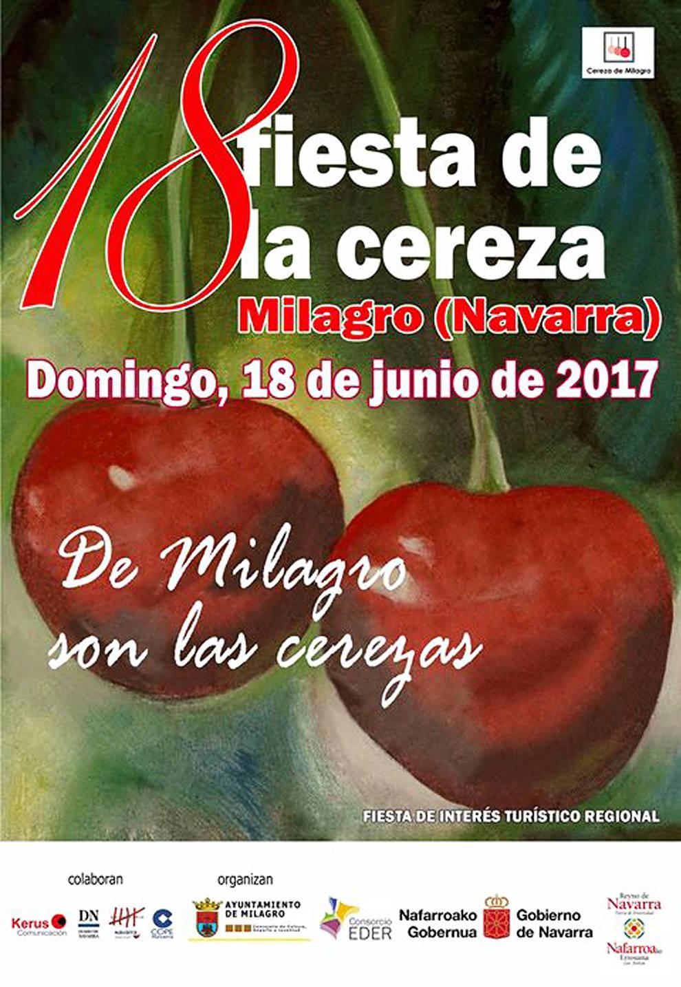 Cartel del Día de la Cereza de Milagro 2017