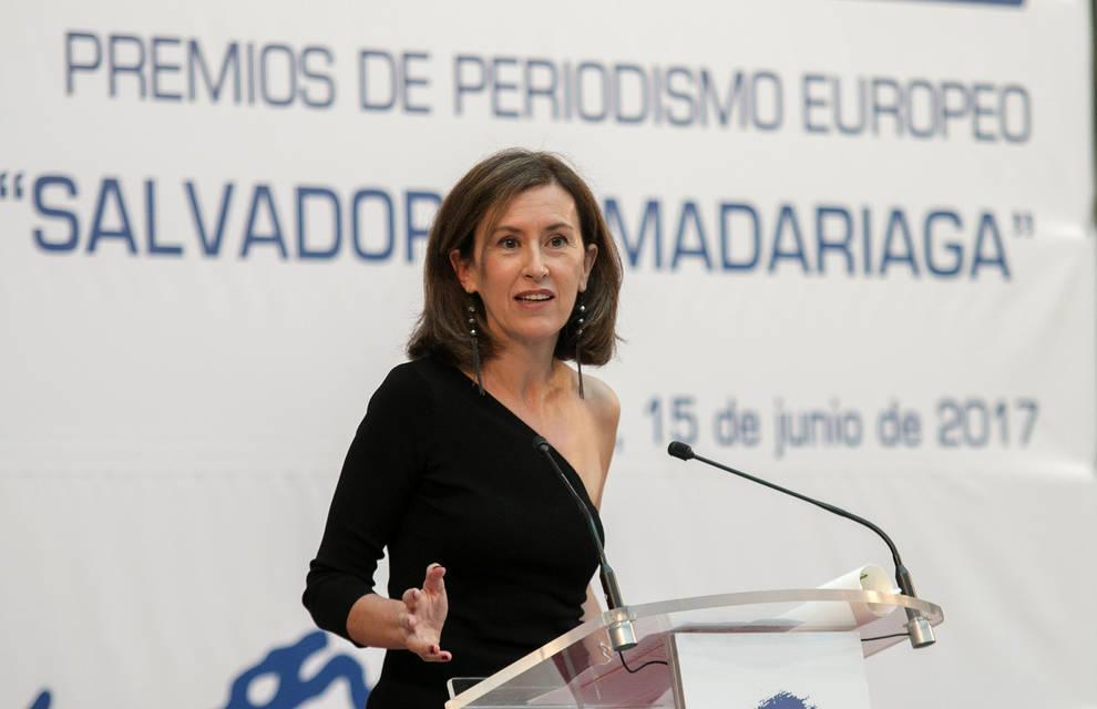 la periodista elena ochoa durante la entrega de los xxiii premios de periodismo europeo salvador de madariaga el jueves en santander