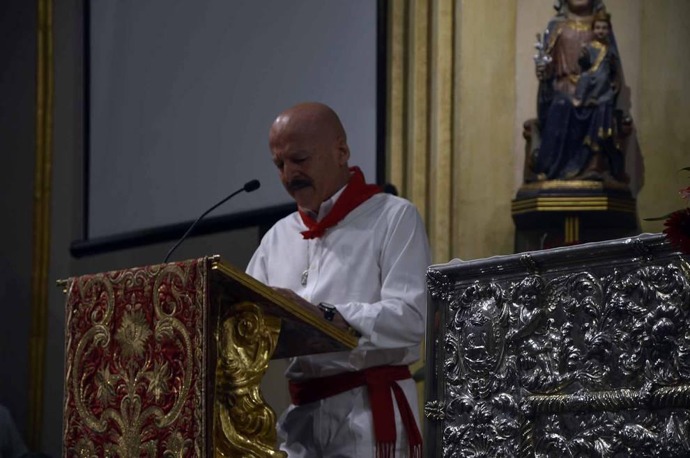 Homenaje a Julen Madina (1/8) - Una abarrotada capilla de San Fermín ha recordado este miércoles al corredor Julen Madina, fallecido el pasado agosto. - San Fermín -