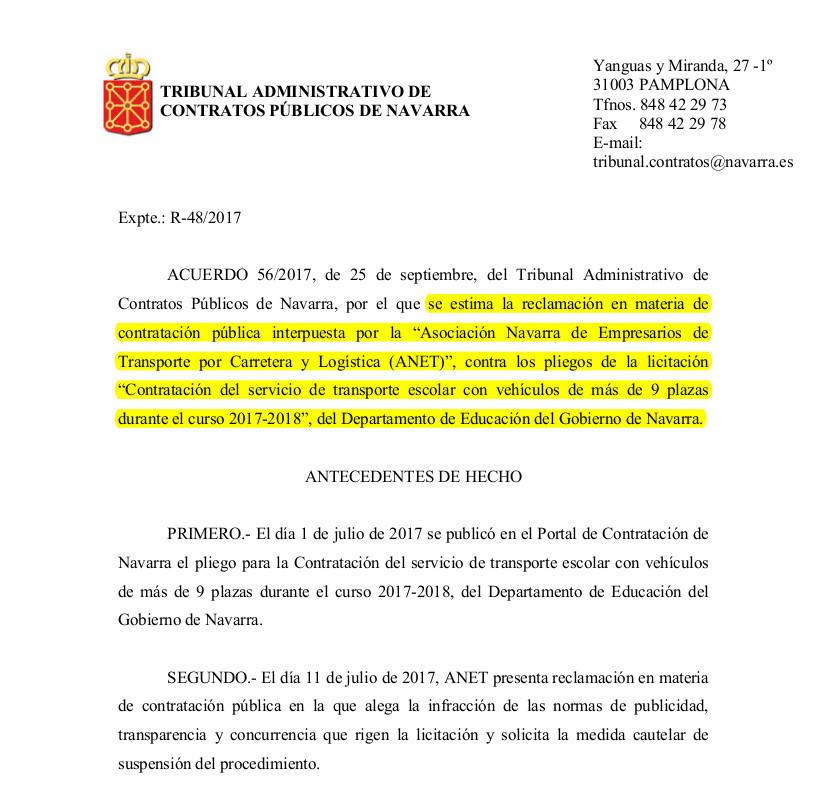 El contrato del transporte escolar anulado por errores de - Servicio de transporte ...