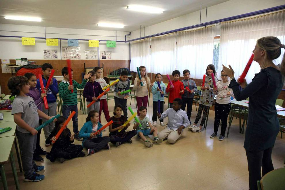 CPEIP Monte San Julián (Tudela) (1/13) - Escolares del colegio Monte San Julián - Navarra -