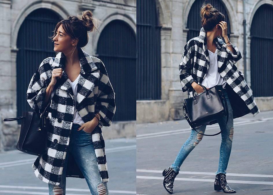 El abrigo de la temporada oversize y con estampado de cuadros