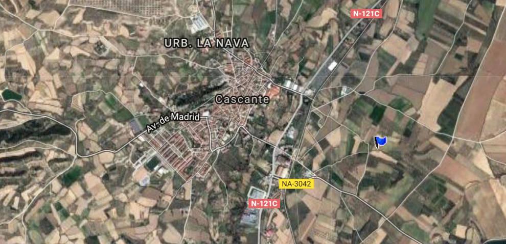 Lugar donde fue localizada una mujer de 85 años desaparecida en Cascante