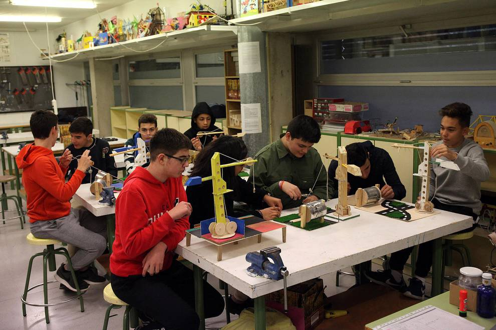 IESO La Paz (Cintruénigo) (1/15) - Estudiantes del IESO La Paz. - Navarra -