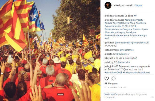 Foto de la díada catalana en el instagram de Alfred Garcia