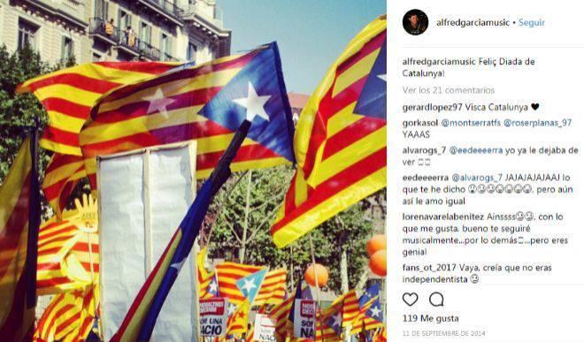 Alfred publica una foto de la díada catalana en instagram
