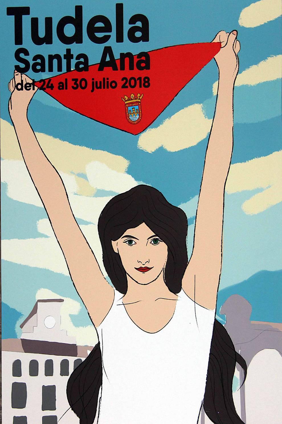 Los seis carteles finalistas para las fiestas de Santa Ana 2018
