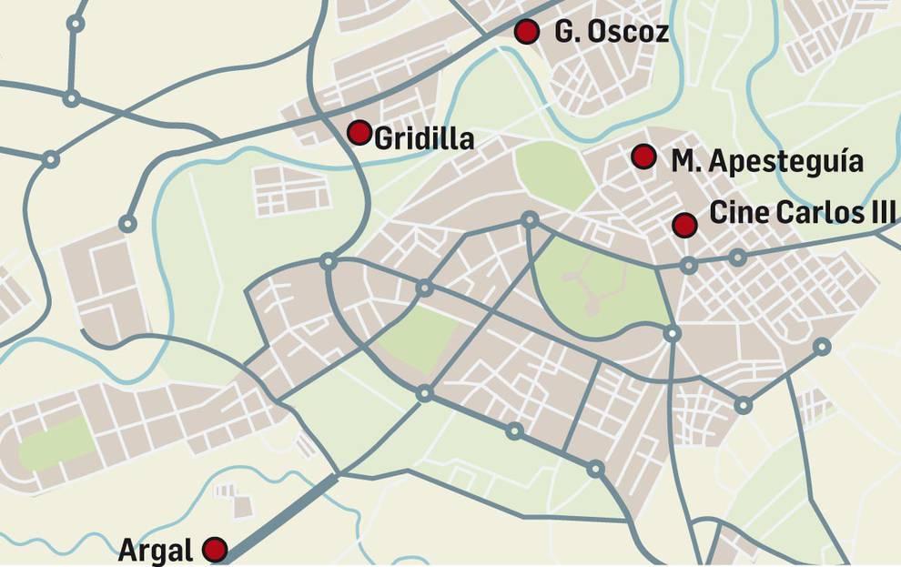 Mapa de Pamplona con los derribos