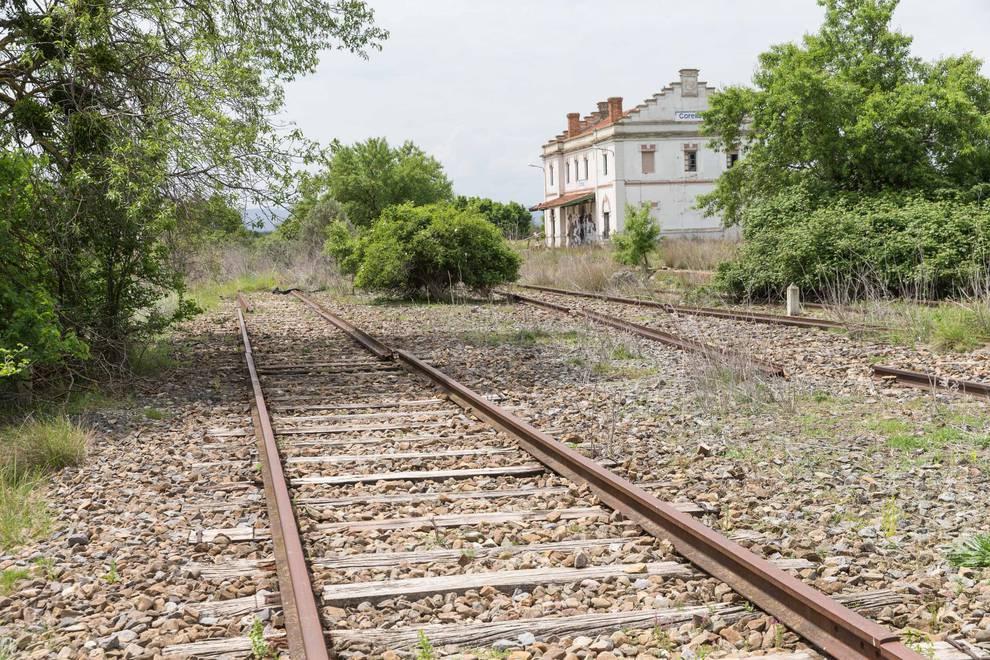 Ferrocarril Castejón - Soria a su paso por Corella