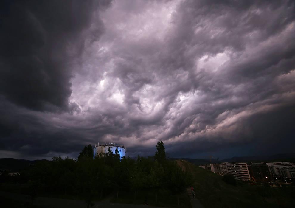 Navarra vivirá un miércoles nuboso, con lluvias débiles y cierzo