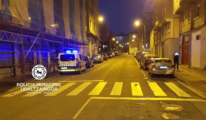 Un conductor ebrio choca en Pamplona contra otro que también da positivo en alcohol