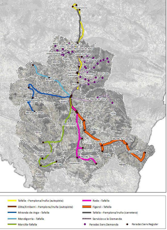 Publicado el anteproyecto del servicio de transporte público de viajeros Pamplona-Tafalla