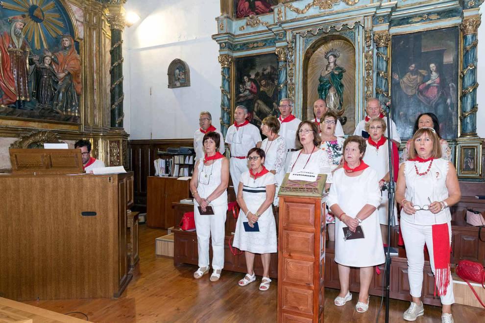 Día de los abuelos en las fiestas de Ablitas (6 de septiembre) (1/6) - La localidad les dedicó la sexta jornada de las fiestas patronales; hubo una misa y una comida - Tudela y Ribera -