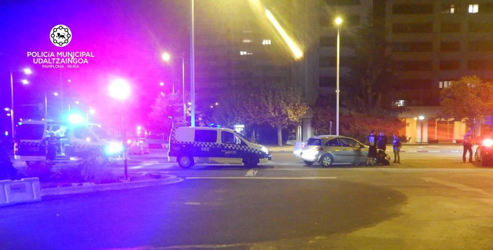 Herido un ciclista de 81 años en un accidente en la avenida Barañáin de Pamplona