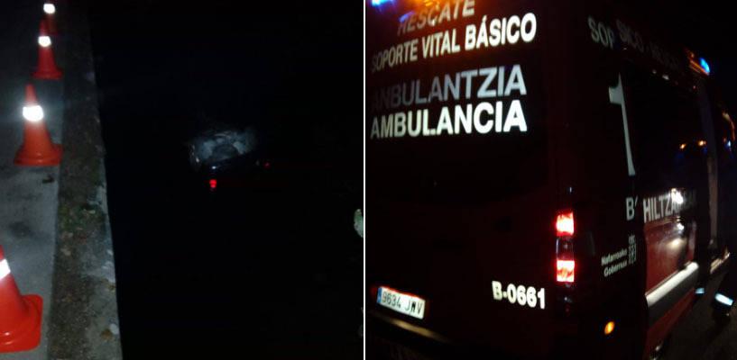 Muere un joven tras caer el coche el que viajaba con otras tres personas al río Arakil en Urdiain