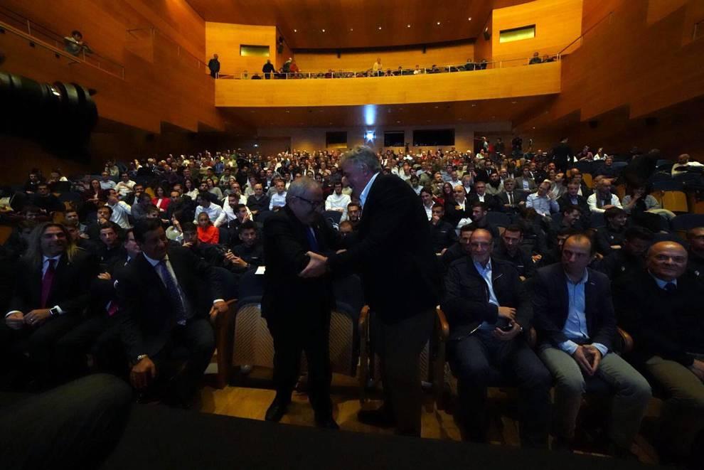 Gala presentación de los proyectos de reforma de El Sadar (1/11) - El Museo Universidad de Navarra acogió este miércoles, 24 de octubre, la gala de presentación de los cinco proyectos que aspiran a realizar la reforma de El Sadar. - Osasuna -