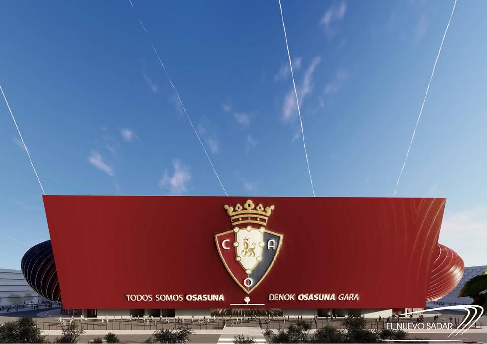 Proyecto de reforma de El Sadar - 'El nuevo Sadar. DNA-W' (1/20) - Propuesta del estudio DNA-W para la reforma del estadio rojillo - Osasuna -