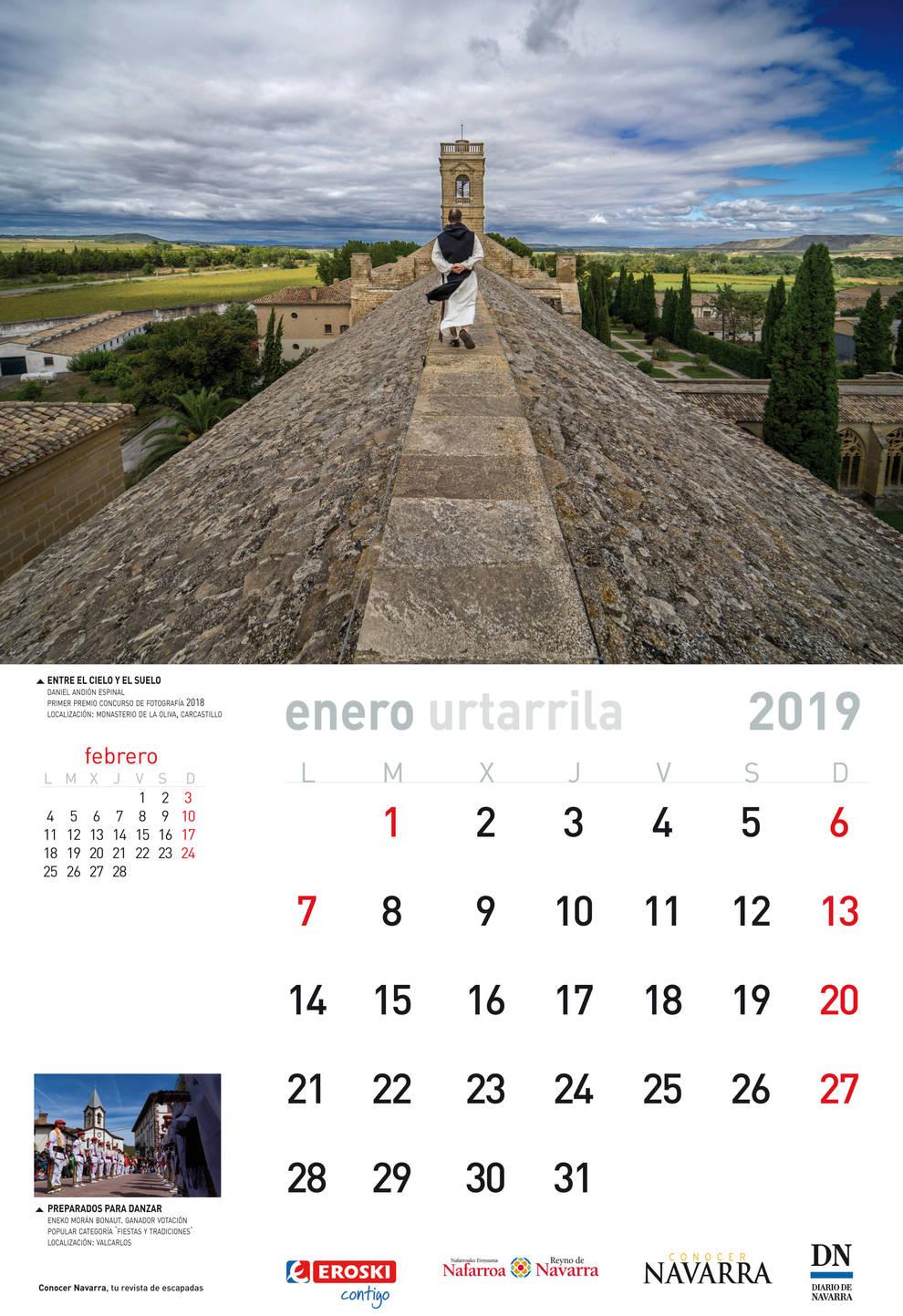 Calendario Diario.El Domingo 16 Gratis Con Diario De Navarra El Calendario