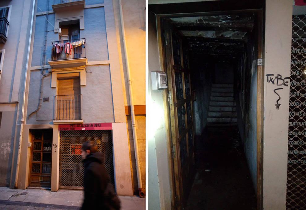 Detenido por provocar un incendio dentro de un portal en Pamplona