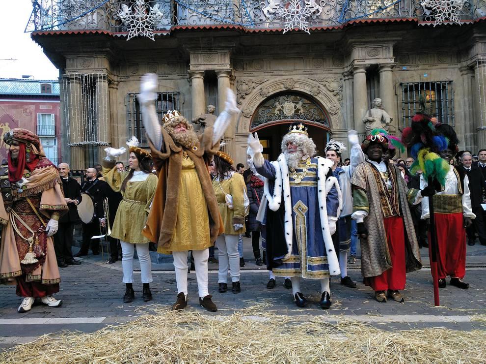 Los Reyes Magos llenan de ilusión Pamplona. SAIOA ROLÁN
