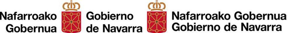 Dos versiones del símbolo oficial del Gobierno foral, modificado esta legislatura.