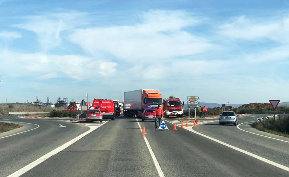 Dos heridos graves y un detenido tras un accidente en Caparroso