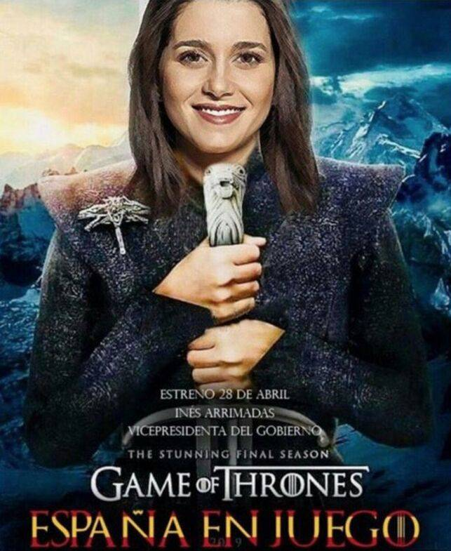 Ciudadanos convierte a Inés Arrimadas en Khaleesi, de Juego de tronos